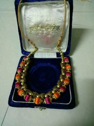 Brass Party Wear Thread Necklace
