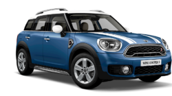 Melting Silver - Black Roof and Mirror Caps and Bonnet Stripes Mini Countryman Cooper S Car
