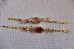 Ladies Golden Design Watch Bracelet