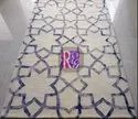 Geometric Design Silk Carpet
