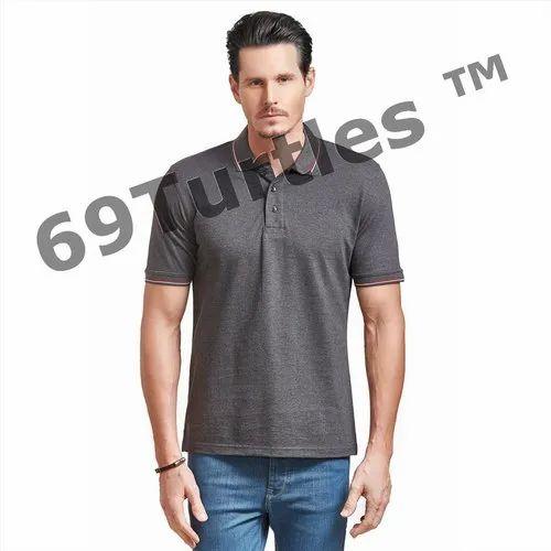 TURTLE69 Cotton Collar T-Shirt