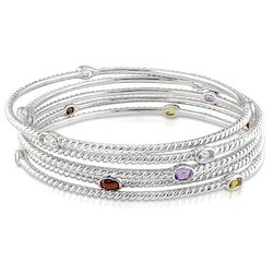 Ladies Fancy Silver Bangles