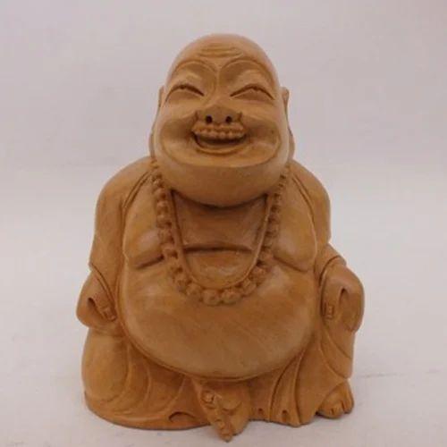 Murli Handicrafts Wood Wooden Laughing Buddha Statue Rs 130 Piece