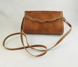 Rexine Party NK Handmade Leather Purse Brown