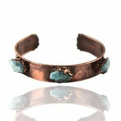 Gemstone Electroformed Cuff Bangles