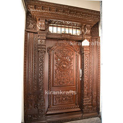 Exterior Polished Main Wood Door for Home