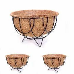 COIR GARDEN Gardening Flower POTS with Coir Floor Basket and Liner - 10 INCH