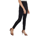 Black color white moti with silver pearl leggings