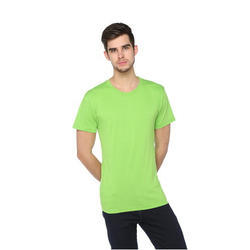 Casual Cotton Mens Solid Round Neck T-Shirt, Size: s To XXL