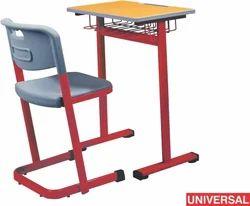 Wood Universal Classroom School Furniture Single Seater Desk