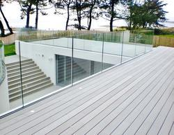 Frameless Glass Staircase Railing