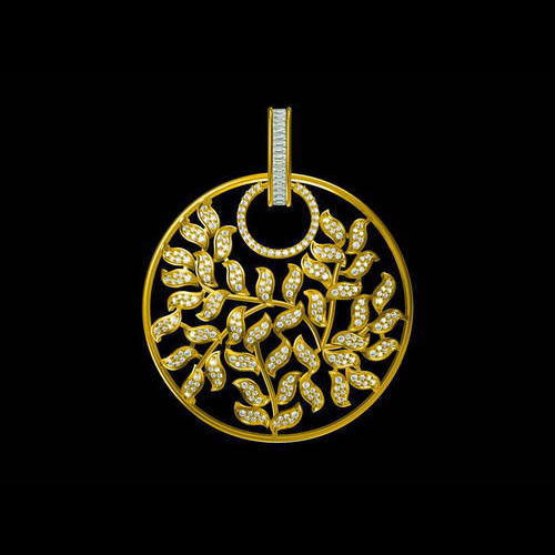 Vihaan jewels party wear wedding wear gold diamond round pendant vihaan jewels party wear wedding wear gold diamond round pendant mozeypictures Image collections