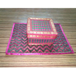 Bamboo Fancy Jali Square Gift Box