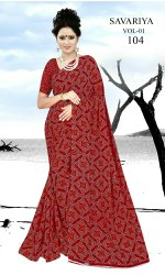 Chunri Printed synthetic Saree