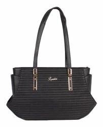 Luvoksi Dagny Shoulder Tote Handbag Black