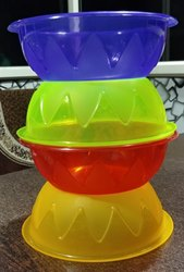four coloursa Plastic Razzi Bowl, Size: 20 Inches