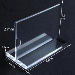 Acrylic Information Paper Card Holder