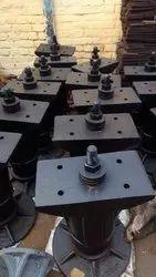 用于铁路的教练和货运车的铸造侧缓冲器组件