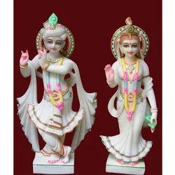 Colored Radha Krishna Ji Statue