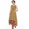 Ladies Designer Sleeveless Kurti, Size: S-xxl