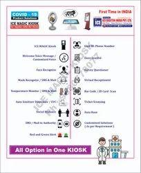 Automatic Sanitizier Visitor Temperature Kiosk Covid19