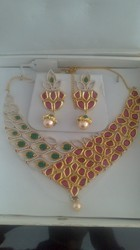 Designer American Diamond Necklace Set JNS 835-1150