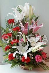 Fresh Flowers Basket Arrangements
