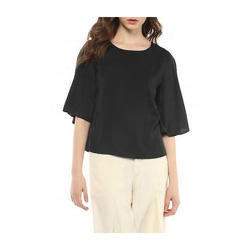 Medium & Large Plain Crepe Top
