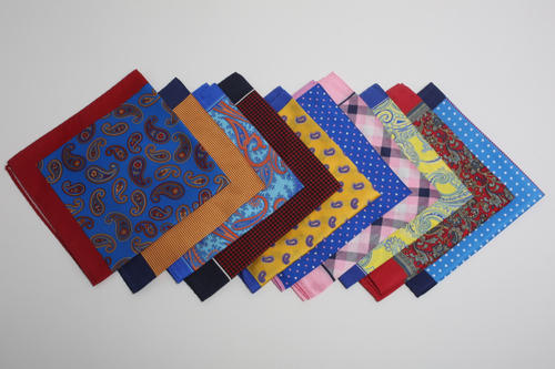 And Silk Printed Pocket Squares Size 40x40 Cm
