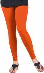 City Queen Churidar Ladies Orange Lycra Legging