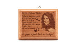 1035SM Laser Engraved Wooden Plaque