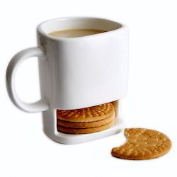 Cookie Mug with Biscuit Holder