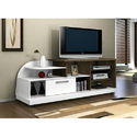 Brown And White Wooden Designer Tv Cabinet