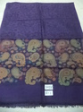 Fine Wool Cashmere Woven Kaani Cutting Border Stole