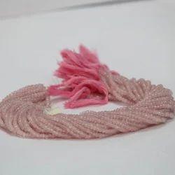 Natural Rose Quartz Faceted Rondelle Beads
