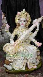 Marble Saraswati Mata Moorti