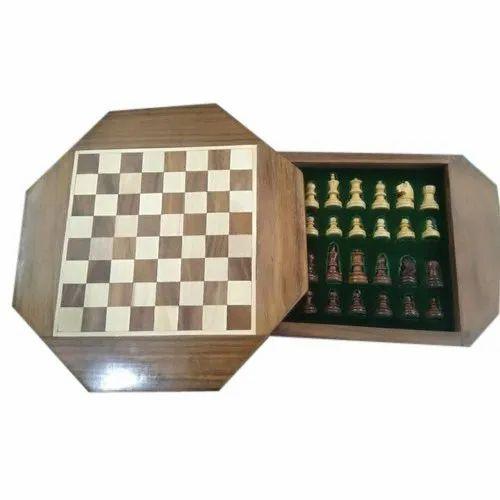 Hex Bone Chess Set, Packaging Type: Box