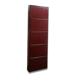 6 Feet Wall Mounted SS Shoe Rack