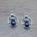 925 Sterling Silver Jewelry Black Onyx Gemstone New Fashion Earring Wr-5497