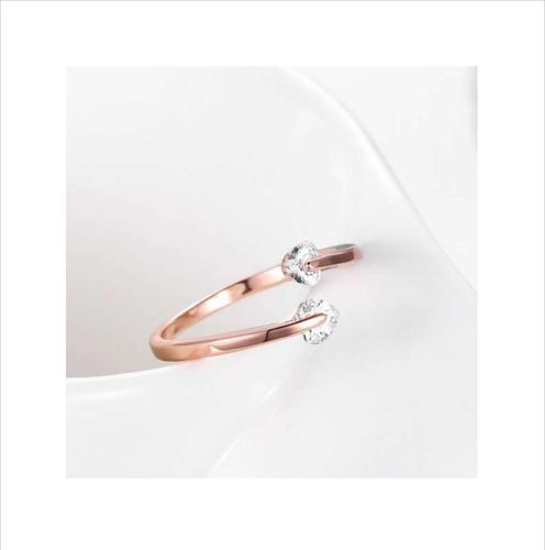 5e19d592ee Silver /rose Gold 1inch Designer Rings For Women And Girls, Rs 95 ...