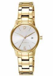 Gold Esprit Analog Watch For Women