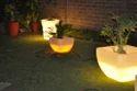Plastic White Decorative Planter, For Decoration