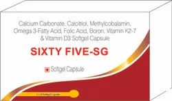 Calcium Carbonate, Calcitriol, Methylcobalamin Omega 3-Fatty Acid, Folic Acid, Boron, Vitamin K2-7 &