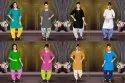 m Kena Vol-4 Kurti With Patiyala Bottom Catalog Collection