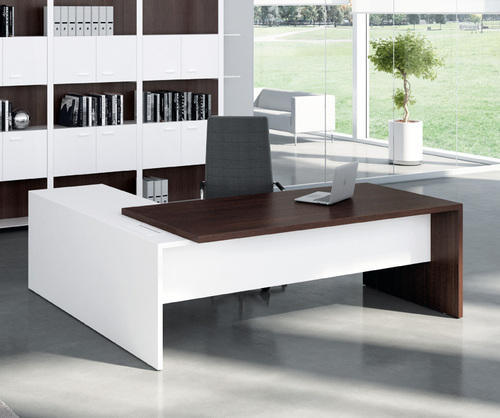 Home Office Furniture At Wooden Furniture Store: Wooden L Shape MD Table, Rs 19500 /piece, Amodini System