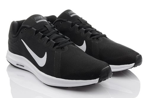 02a162a0f3e9 Black And White Nike Downshifter 8 Sport Sneakers Running Shoes Men  s