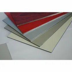 AR-206 Bright Red Aluminium  Composite Panel