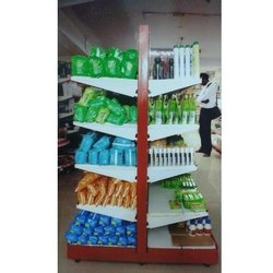White Stainless Steel Supermarket Display Shelf, Size: 7*3 Feet, 5