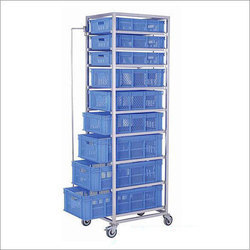 Vegetable Storage Rack Trolley