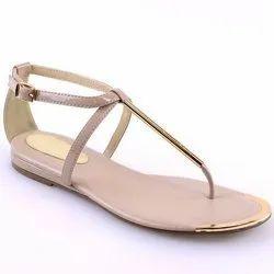 PU Plain Ladies Flat Slipper